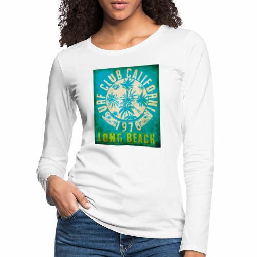 Long Beach Surf Club California 1976 Gift Idea - Women's Premium Longsleeve Shirt