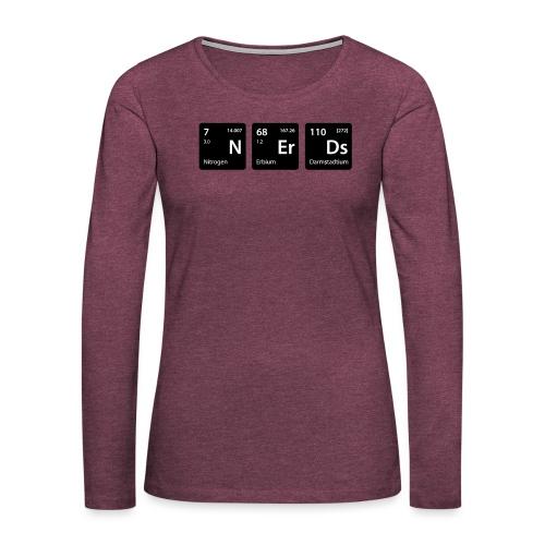 Element Nerds - Frauen Premium Langarmshirt