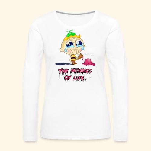 The Miseries of Life Eiscreme Eis Kind - Frauen Premium Langarmshirt