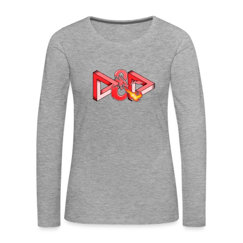 Pysyvät Dungeons and Dragons - dnd d & d - Naisten premium pitkähihainen t-paita