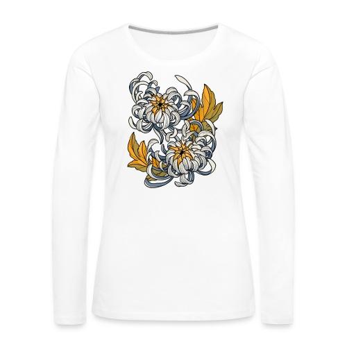 Chrysanthèmes enlacés - T-shirt manches longues Premium Femme