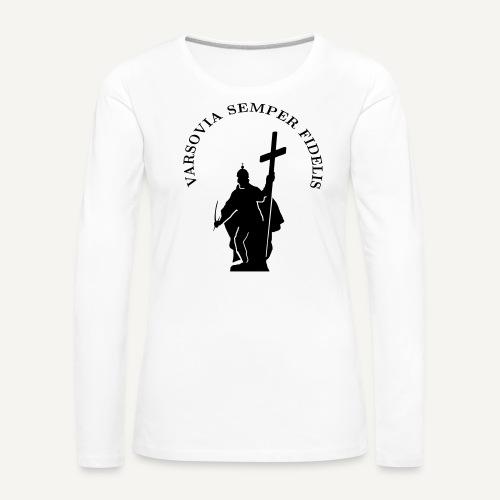 varsoviasf - Koszulka damska Premium z długim rękawem