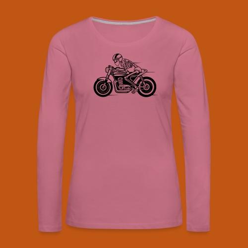 Cafe Racer Motorrad 05_schwarz - Frauen Premium Langarmshirt