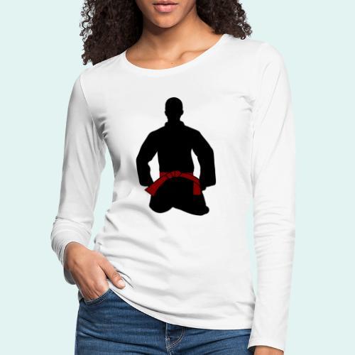 Judo Braungurt - Frauen Premium Langarmshirt