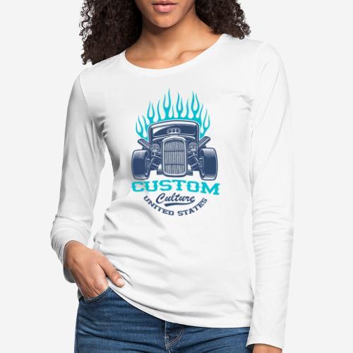 Custom Car USA - Frauen Premium Langarmshirt