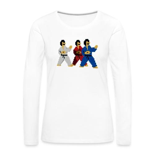 8 bit trip ninjas 1 - Women's Premium Longsleeve Shirt