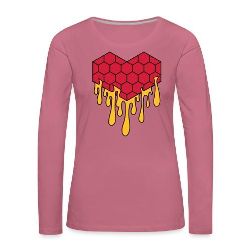 Honey heart cuore miele radeo - Maglietta Premium a manica lunga da donna