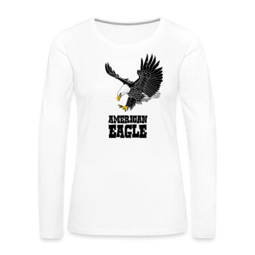 American eagle - Vrouwen Premium shirt met lange mouwen
