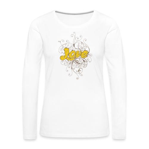 Scritta Love con decorazione - Maglietta Premium a manica lunga da donna