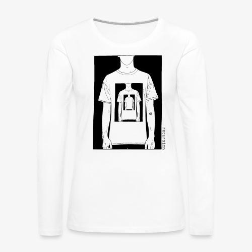 Recursion | Loop | Repeat | Optical illusion - Women's Premium Longsleeve Shirt