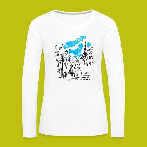 Plaza de Cascorro - Camiseta de manga larga premium mujer