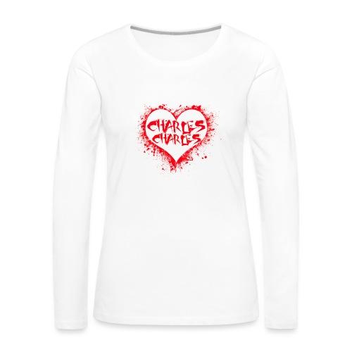 CHARLES CHARLES VALENTINES PRINT - LIMITED EDITION - Women's Premium Longsleeve Shirt