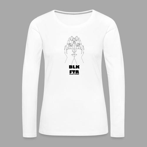 BLK FTR N°4 - Maglietta Premium a manica lunga da donna