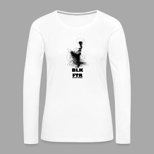 BLK FTR N°5 - Maglietta Premium a manica lunga da donna