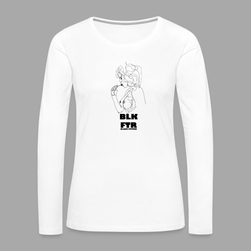BLK FTR N°6 - Maglietta Premium a manica lunga da donna
