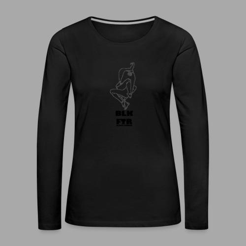 BLK FTR N°7 - Maglietta Premium a manica lunga da donna