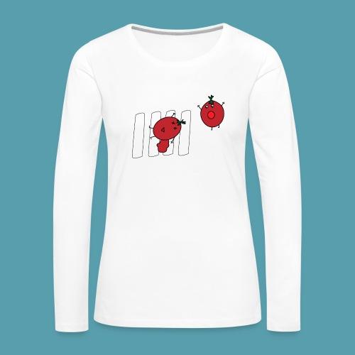 tomaatit - Naisten premium pitkähihainen t-paita