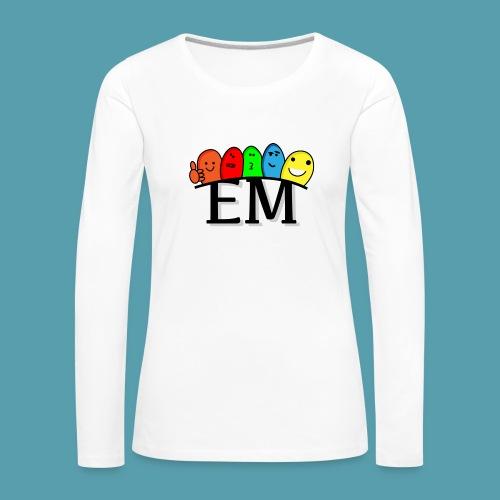 EM - Naisten premium pitkähihainen t-paita