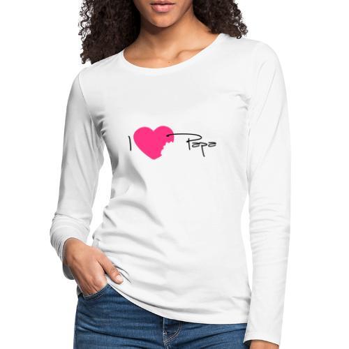 I love Papa 13 Vecto - T-shirt manches longues Premium Femme