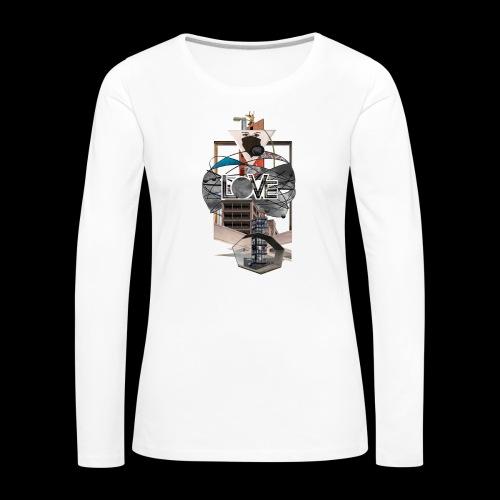 LOVE - Frauen Premium Langarmshirt