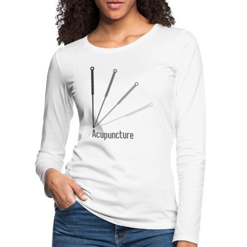 Acupuncture Eventail (logo noir) - T-shirt manches longues Premium Femme