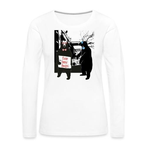 BEER BEARS - Naisten premium pitkähihainen t-paita