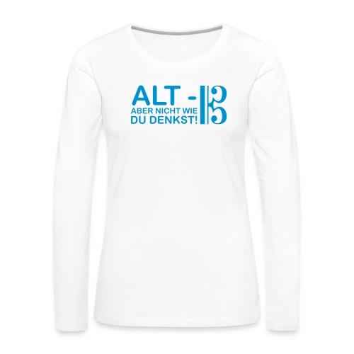 Alt Vektor - Frauen Premium Langarmshirt