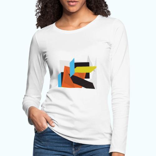 Vintage shapes abstract - Women's Premium Longsleeve Shirt
