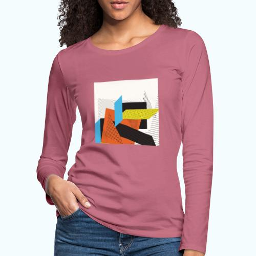 Vintage shapes abstract - Women's Premium Longsleeve Shirt
