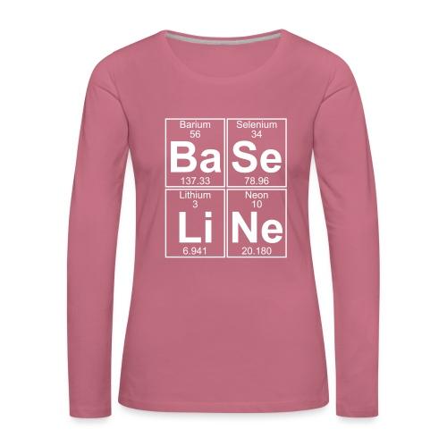 Ba-Se-Li-Ne (baseline) - Full - Women's Premium Longsleeve Shirt