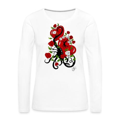 TatooHerzen - Frauen Premium Langarmshirt