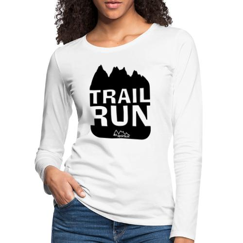 Trail Run - Frauen Premium Langarmshirt