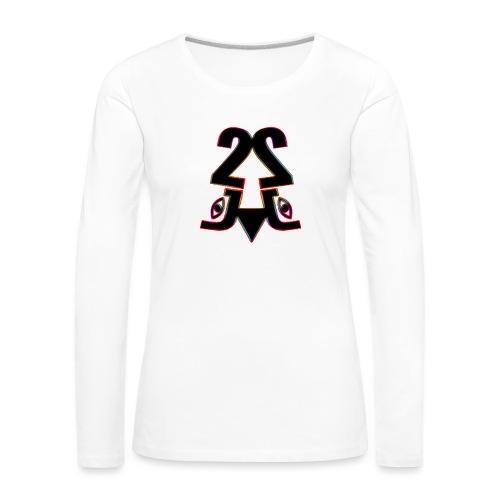 2j_Rainbow - Dame premium T-shirt med lange ærmer