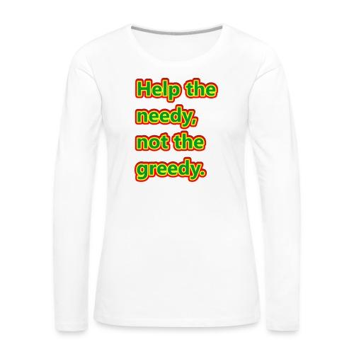 help - Women's Premium Longsleeve Shirt