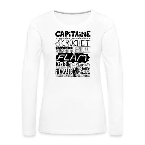 capitaine - T-shirt manches longues Premium Femme