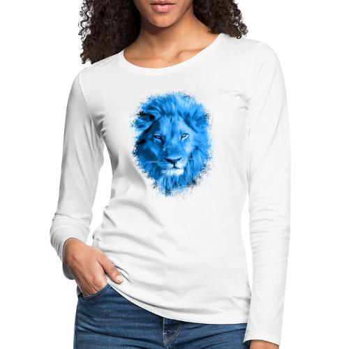 Löwe blau - Frauen Premium Langarmshirt