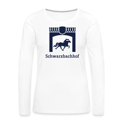 Logo Schwarzbachhof Blau - Frauen Premium Langarmshirt