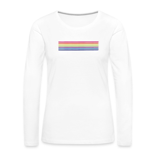 Colored lines - Women's Premium Longsleeve Shirt