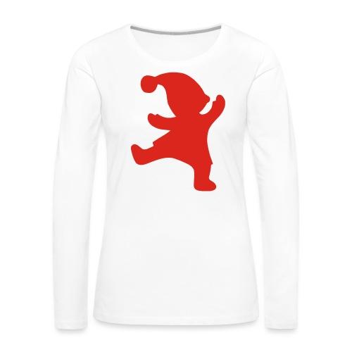 Santas helper - Naisten premium pitkähihainen t-paita