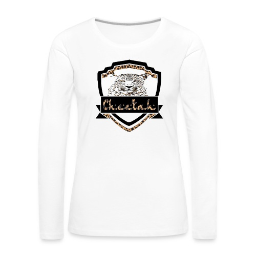 Cheetah Shield - Women's Premium Longsleeve Shirt