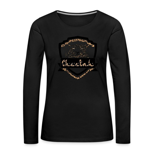 Cheetah Shield - Women's Premium Longsleeve Shirt
