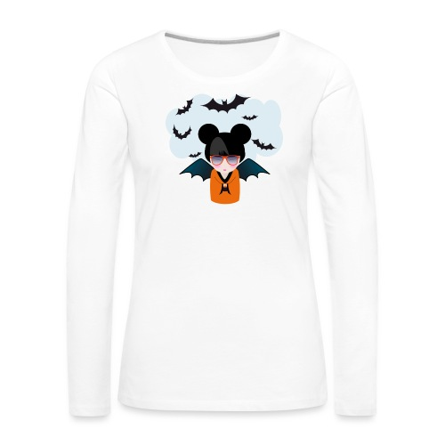 halloween kokeshi - T-shirt manches longues Premium Femme