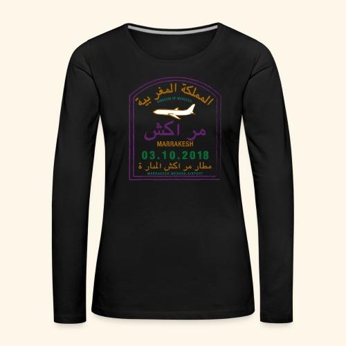 marrakeche - T-shirt manches longues Premium Femme