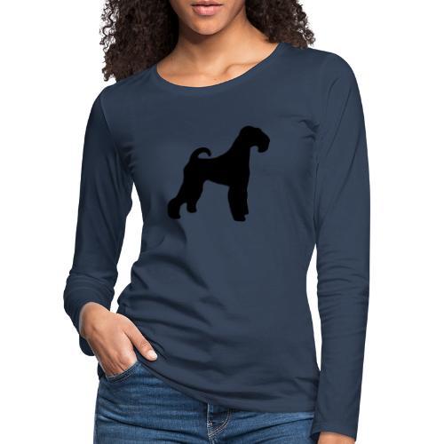 BLACK Airedale Terrier - Women's Premium Longsleeve Shirt