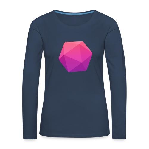 Pink D20 - D&D Dungeons and dragons dnd - Naisten premium pitkähihainen t-paita
