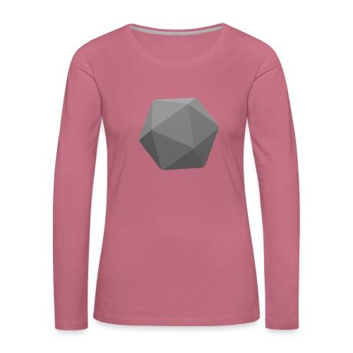 Grey d20 - D&D Dungeons and dragons dnd - Naisten premium pitkähihainen t-paita