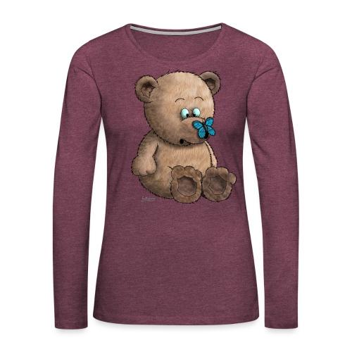 Teddybär - Frauen Premium Langarmshirt