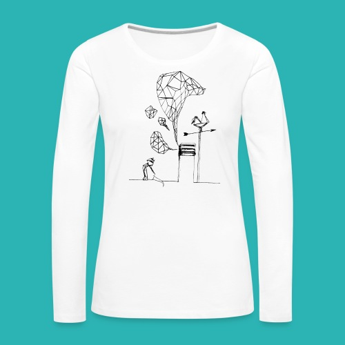 Carta_gatta-png - Maglietta Premium a manica lunga da donna