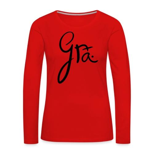 logo-trans-ai - Vrouwen Premium shirt met lange mouwen