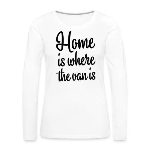camperhome01b - Premium langermet T-skjorte for kvinner